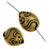 Beads Metalized Mice 9X11mm Antique Gold